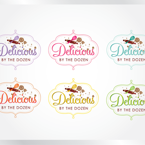 Cooking logo with the title 'logo for Delicious By The Dozen'