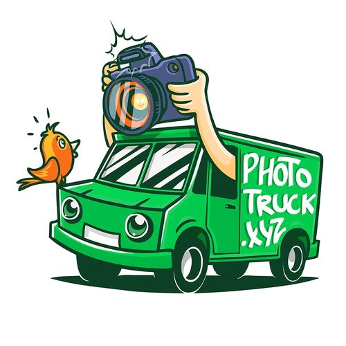 Truck logo with the title 'Photo truck'