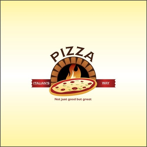 Oven logo with the title 'Logo concept for pizzeria'