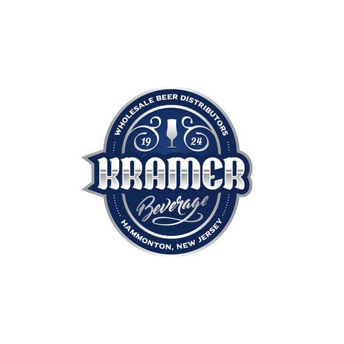 Silver logo with the title 'Kramer Beverage'