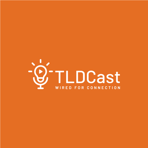 Microphone logo with the title 'Logo for TLDCast'