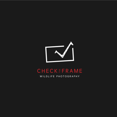 Wildlife logo with the title 'Logo for CheckTheFrame fotography'